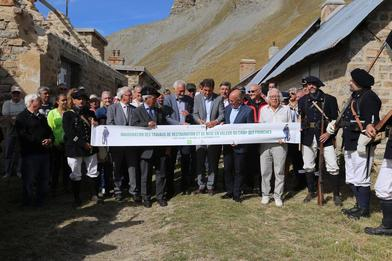 Saint Dalmas-le-Selvage - Inauguration des travaux de restauration du Camp des Fourches